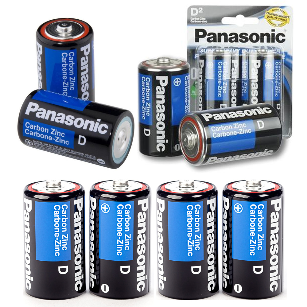 8 X Panasonic D Batteries Super Heavy Duty Carbon Zinc Battery 1.5V EXP. 2022