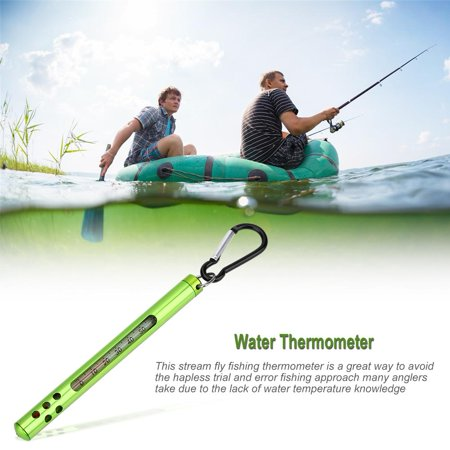 Thermometer,Zerone Outdoor Metal Fly Fishing Water Stream Thermometer Fishing Accessories