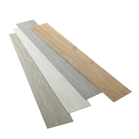 16 Pcs Odorless Vinyl Floor Planks Adhesive Floor Tiles 20mm Thick
