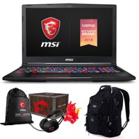 "MSI GE63 Raider RGB-052 Premium Gaming Laptop (Intel i7-8750H, 16GB RAM, 4TB PCIe SSD, 15.6"" FHD 1920x1080 IPS Display, RTX 2070, RGB Keyboard, Win 10 Pro) MSI Loot Box and ME2 Backpack"