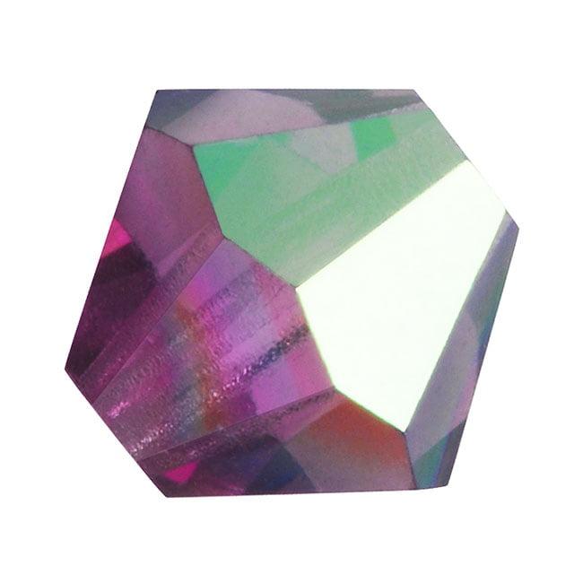 Czech Crystal Glass Beads 6mm Bicone 'Amethyst AB' (20)