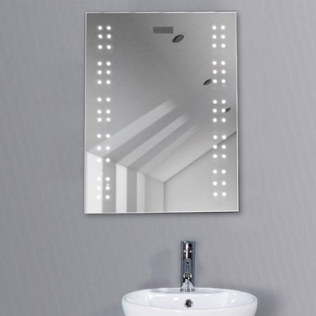Bathroom Illuminated Mirror Led Light Sensor Demister