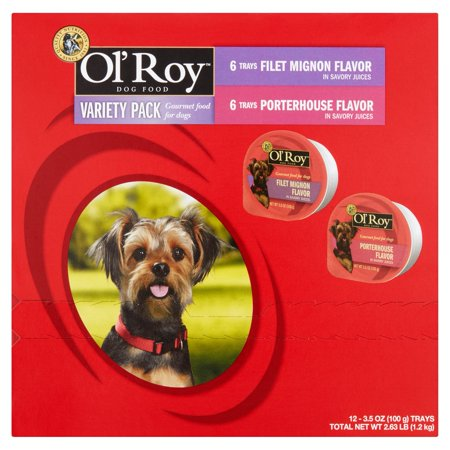 Ol Roy Variety Pack Filet Mignon   Porterhouse Wet Dog Food  3 5 Oz  12 Ct