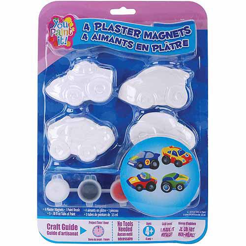 Colorbok You Paint It Plaster Magnet Kits