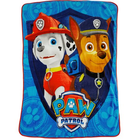 Paw Patrol Twin 60  X 40  Throw  Blue