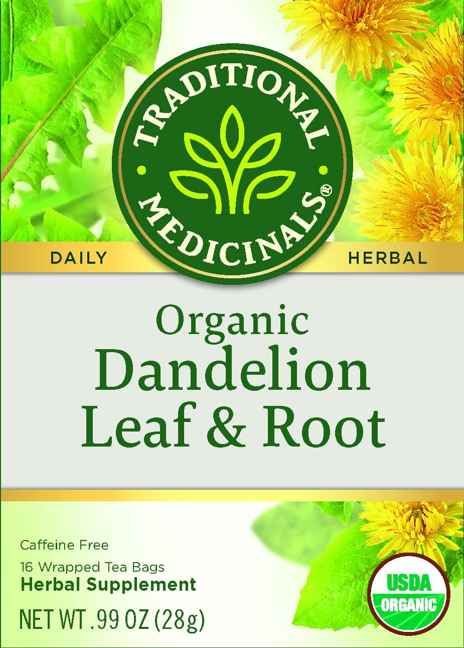 Traditional Medicinals Organic Dandelion Leaf Root Herbal Tea Tea Bags 16 Ct Walmart Com Walmart Com
