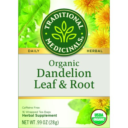 Traditional Medicinals, Organic Dandelion Leaf & Root Herbal Tea, Tea Bags, 16 -