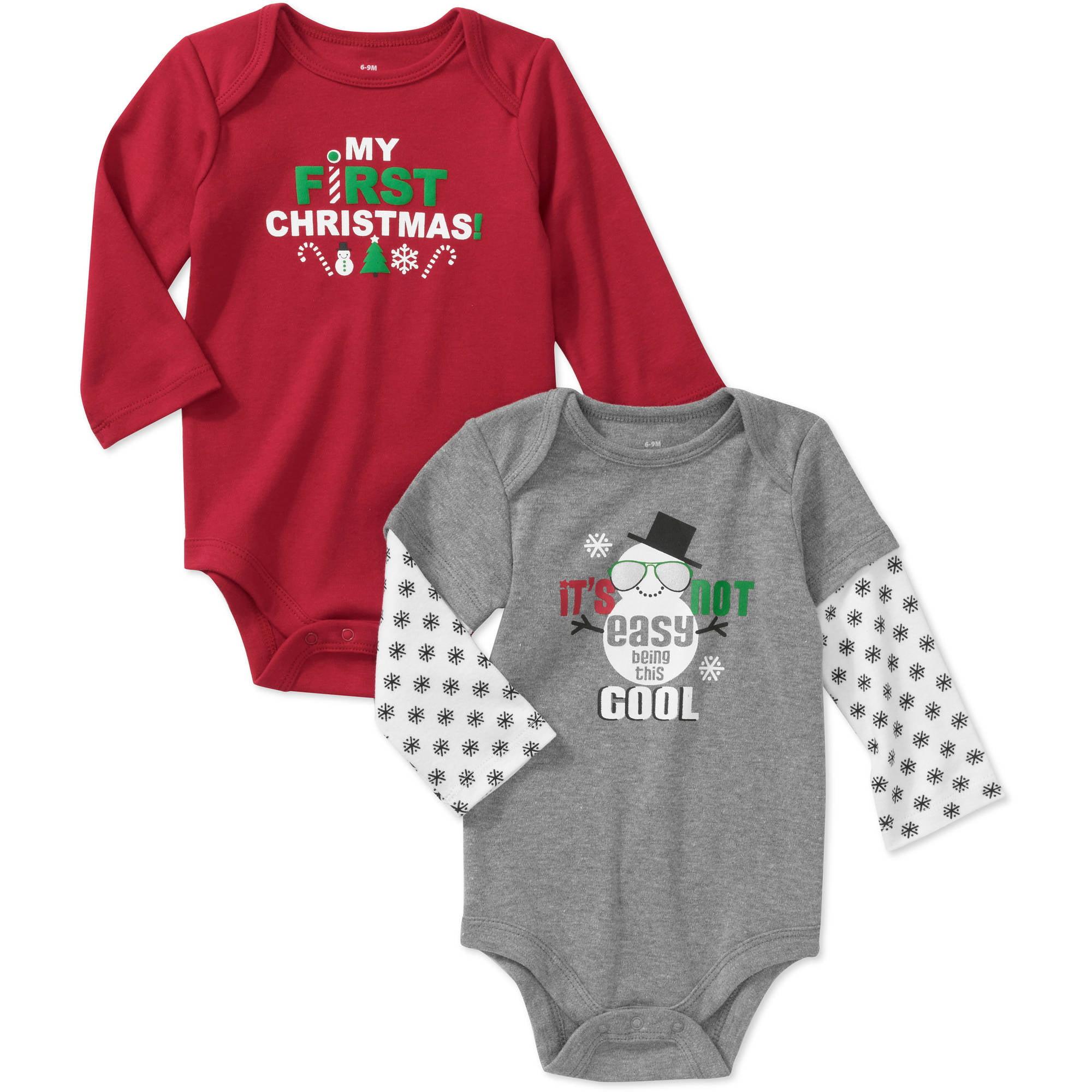 Newborn Boys' 2-pack Holiday Creeper Set