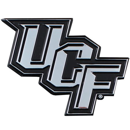 UCF Central Florida Chrome Solid Metal Team Logo Auto Emblem