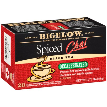 (4 Pack) Bigelow, Spiced Chai Decaf, Tea Bags, 20