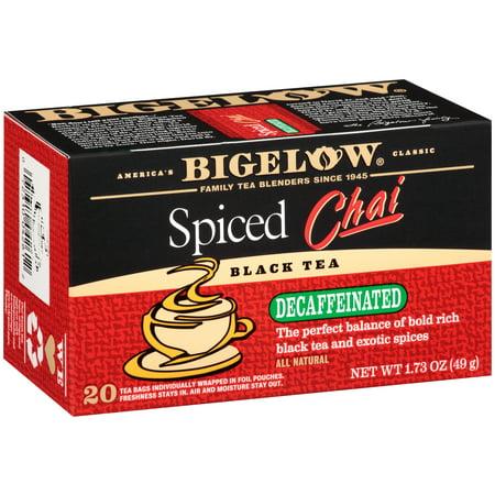 (4 Pack) Bigelow, Spiced Chai Decaf, Tea Bags, 20 covid 19 (Decaffeinated Masala Chai Tea coronavirus)