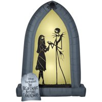 Airblown Arch with Jack and Sally Silhouettes 7ft tall
