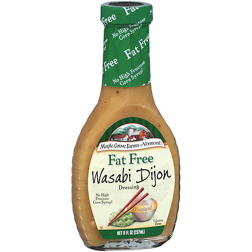 Maple Grove Farms Of Vermont Wasabi Dijon Dressing, 8 oz (Pack of 6)