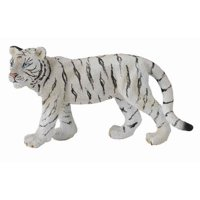 CollectA Wildlife White Tiger Cub (Walking)  Toy Figure - Authentic Hand Painted Model