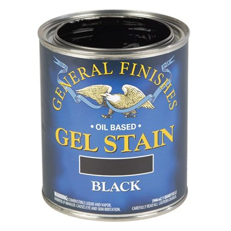 General Finishes Gel Stain, Oil Based, Black, -