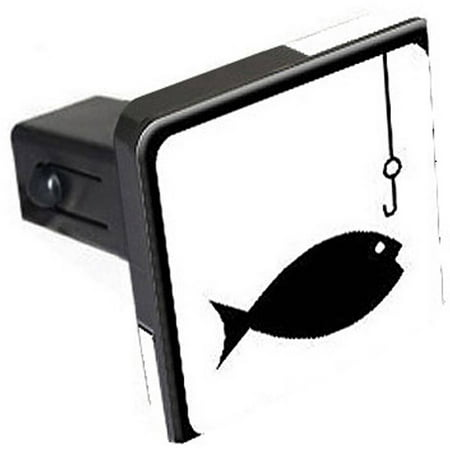 Fish fishing sign symbol tow trailer hitch cover for Fish hitch cover
