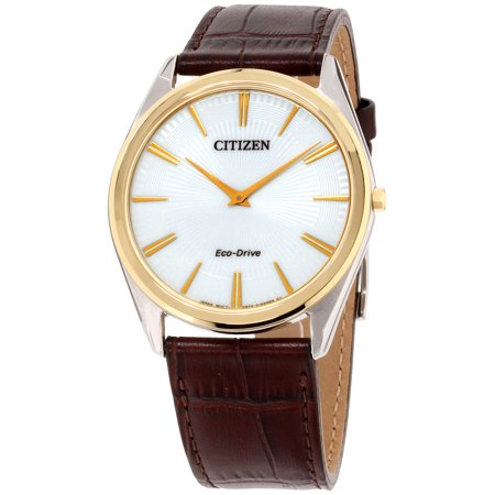 Citizen Stiletto White Dial Leather Strap Men's Watch AR3074-03A (Stiletto Citizen Watch)