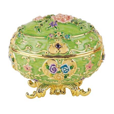 Renaissance Faberge-Style Enameled Egg: Couleur Verte