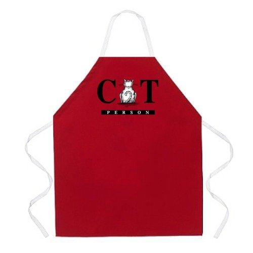Attitude Aprons by L.A. Imprints Cat Person Apron in Red