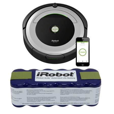 Irobot Roomba 690 Wi Fi Robotic Vacuum W  Irobot Xlife Extended Life Battery