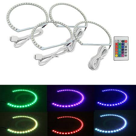 Multi-Color RGB LED Angel Eye Halo Rings For BMW E39 E46 3 5 7 Series Headlight
