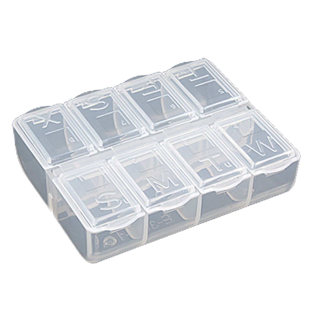 Unique Bargains Clear White Clarity Components Box Plastic Storage Case