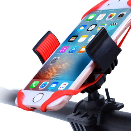 Zone Tech Bike and Motorcycle Cell Phone Mount - Adjustable Holder Mount for Smart phones, iPods and most GPS with Adjustable Firm Grip to fit your mobile up to 3.7 (Fit Grid)
