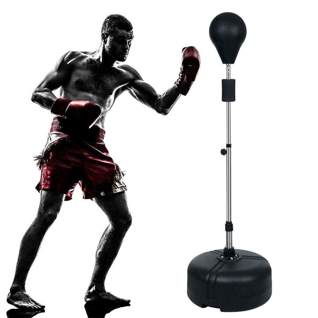 61'' Heavy Duty Punching Bag Gym Adjustable Height Workou...