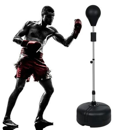 Reflex Bag Sports Boxing Punching Bag Freestanding Gym Adjustable Height Workout Training Bag