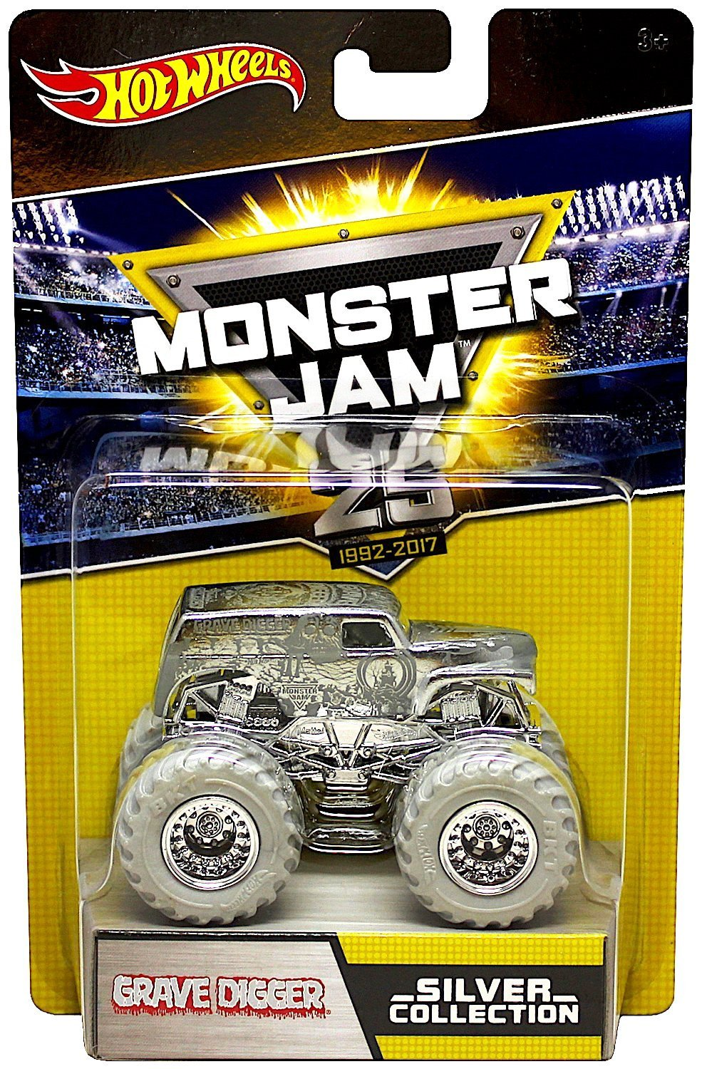 Hot Wheels Monster Jam 25th Silver Collection Complete set of 5 By ...