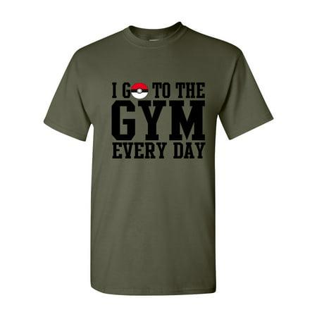 Pokemon Gym Everyday Mens Womens T-Shirt Top