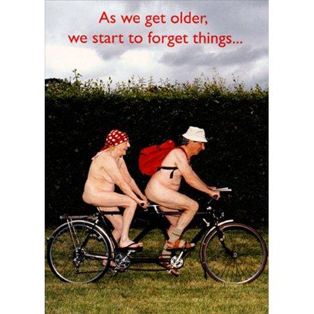 Portal Publications Forget Things Tandem Bike Couple Funny / Humorous Birthday (Biker Thong)