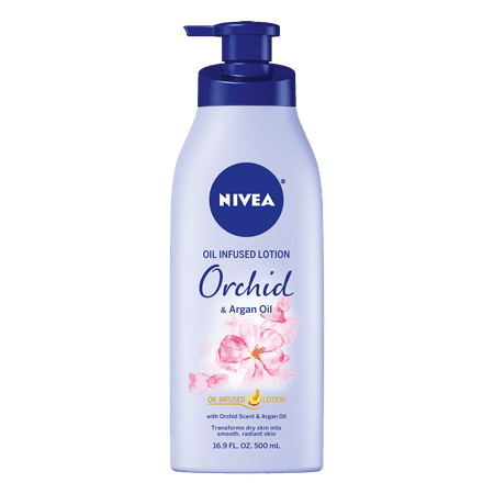 NIVEA Oil Infused Body Lotion Orchid and Argan Oil, 16.9 Fluid