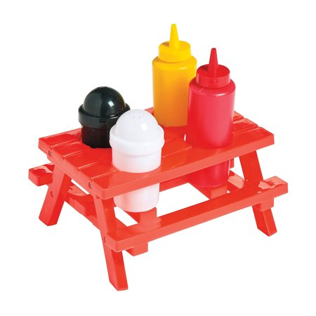 Picnic Supplies (Fun Express - Picnic Table Condiment Set (5pc) - Party Supplies - Serveware & Barware - Misc Serveware & Barware - 5)