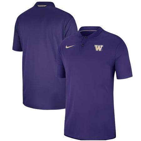Washington Huskies Nike Elite Coaches Blade Collar Performance Polo - Purple