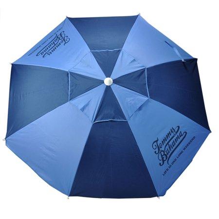 6.5 ft Fiberglass Tommy Bahama Beach Umbrella with Standard Aluminum  Pole, UPF 100+ and
