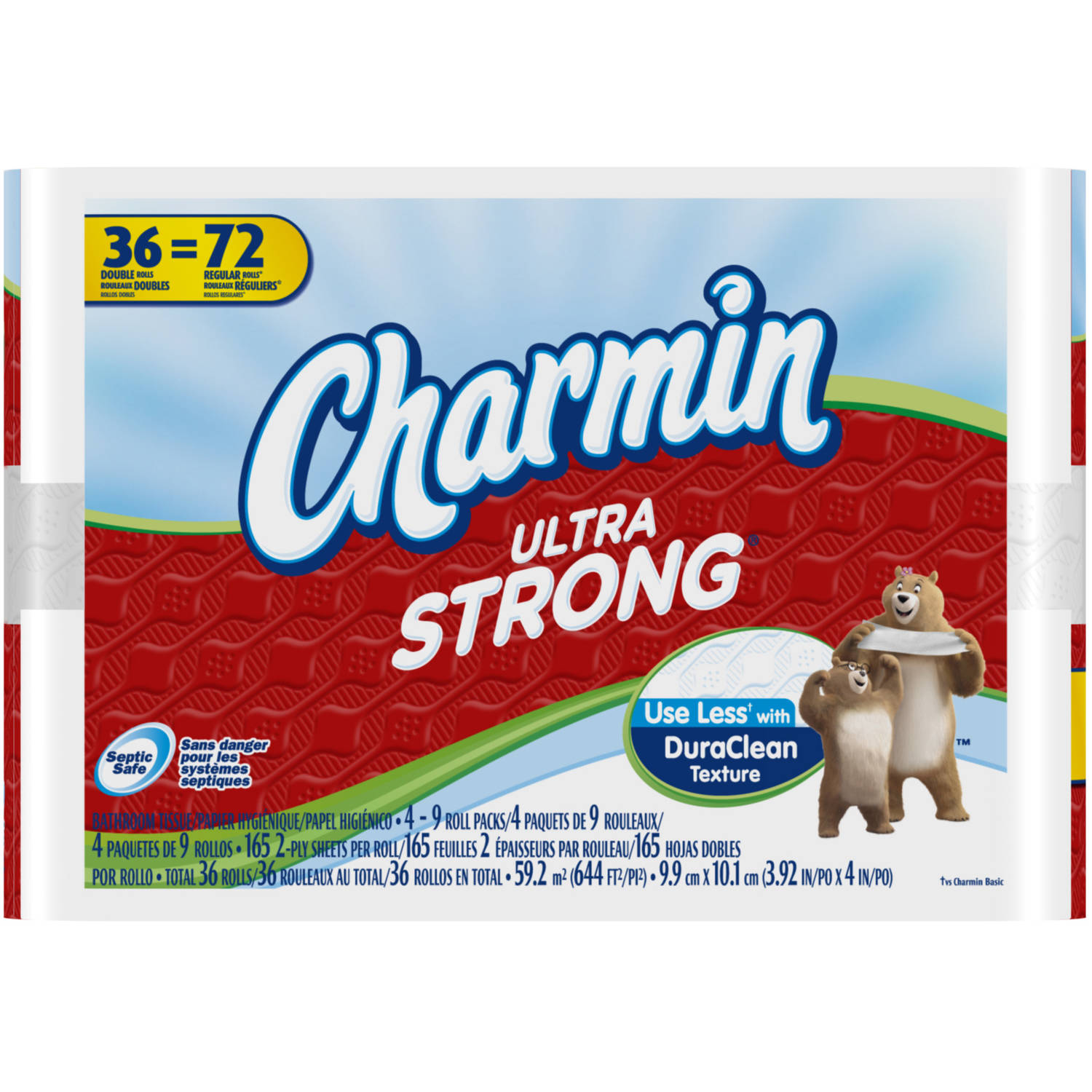 Charmin Ultra Strong Toilet Paper Double Rolls, 165 sheets, 36 rolls