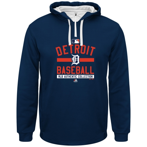 Men's Majestic Navy Blue Detroit Tigers Big & Tall A/C On-Field Team Property Hoodie