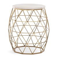Belham Living Riley Bay Geo Garden Stool with Marble Top