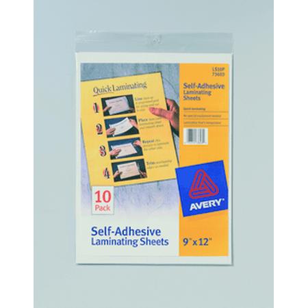 Self-Adhesive Laminating Sheet - Quantity of 12 - PT -