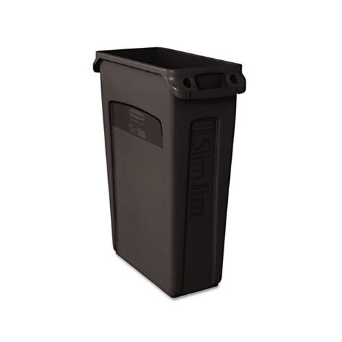 Rubbermaid Commercial Slim Jim  23-Gal. Rectangular Wastebasket with Venting Channel