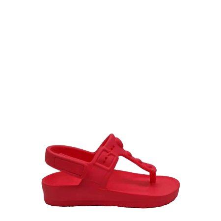 Wonder Nation EVA Beach Toe Post Heart Sandal (Toddler Girls)