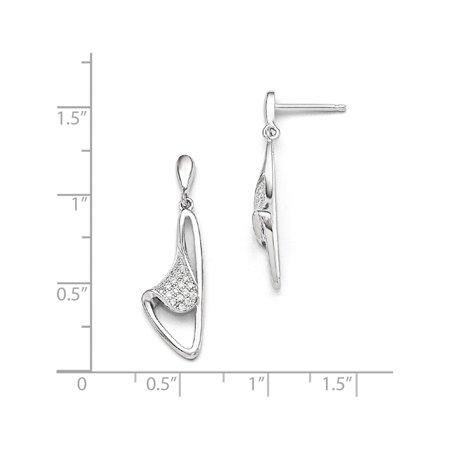 Argent 925 & CZ Brilliant Embers Dangle (post 9x29mm) Boucles d'oreilles - image 1 de 2