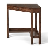Deals on Mainstays Corner Writing Desk with Drawer and Lower Shelf