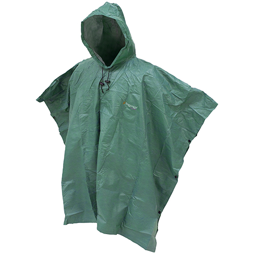 Frogg Toggs Ultra-Lite Poncho w Hood Green SKU: FTP1714-09 with Elite Tactical Cloth by Frogg Toggs