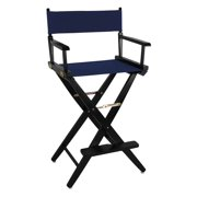 Black Frame Directors Chair with Navy Canvas