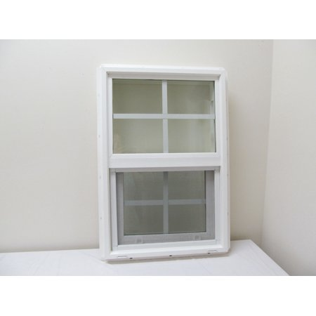Double Pane Window 18 X 27 Tempered Glass Pvc Frame Walmartcom