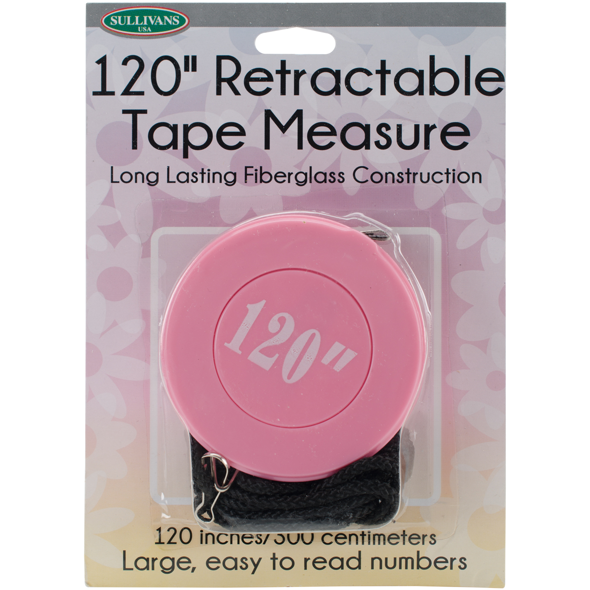 "Retractable Tape Measure 120"" - Pink"