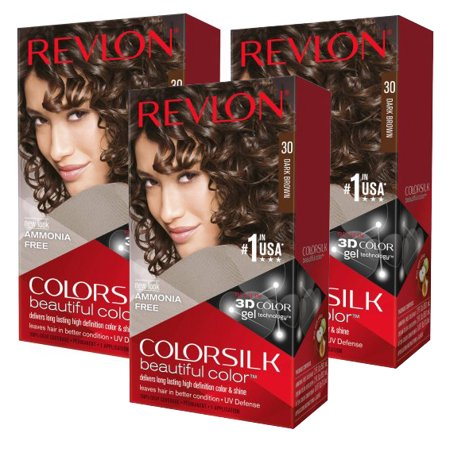 (3 Pack) Revlon Colorsilk Beautiful Color Permanent Liquid Hair