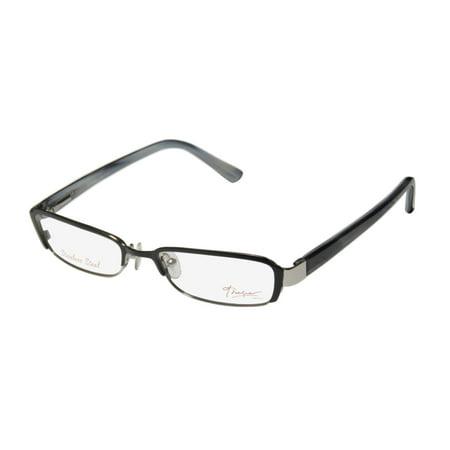 New Thalia Delfina Womens/Ladies Designer Full-Rim Black / Silver / Multicolor Stainless Steel High-quality Frame Demo Lenses 49-16-130 Spring Hinges Eyeglasses/Spectacles